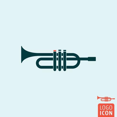 Trompete-Symbol isoliert vektor