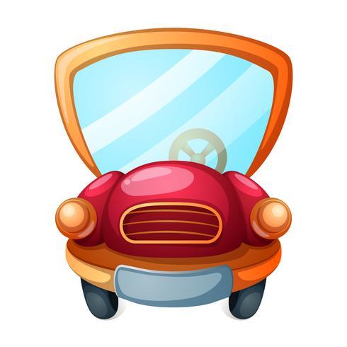Rolig, söt tecknad bilbil illustration. vektor
