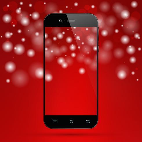 Smartphone roten Hintergrund vektor