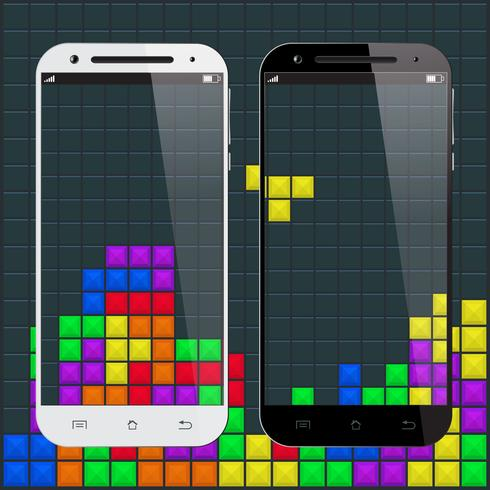 Gamla spel smartphone vektor