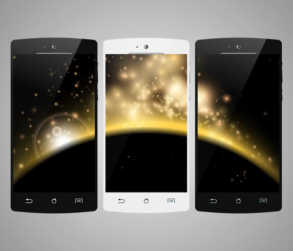 Smart telefon bakgrund vektor