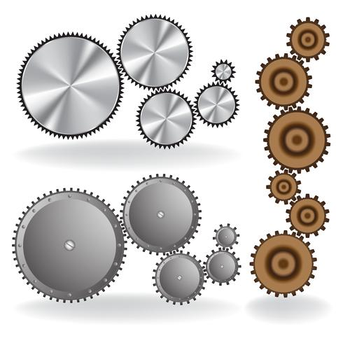 Set med olika växlar vektor