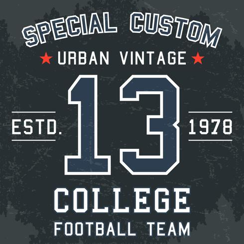 Vintagefotbollaffisch vektor
