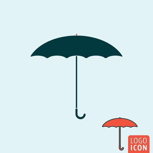 Paraply ikon isolerad vektor