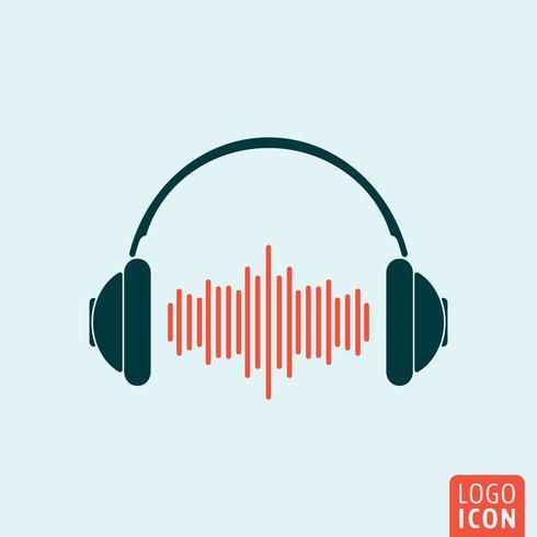 Hörlursikonen isolerad vektor
