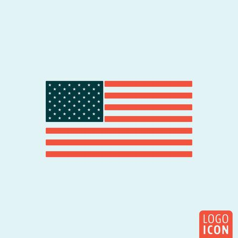 Unated states flagga vektor