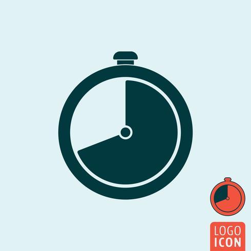 Uhrensymbol isoliert vektor