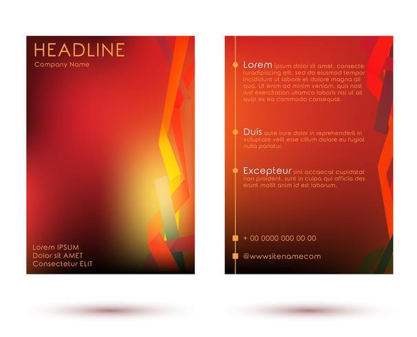 Herbst Broschüre Vorlage Poster vektor