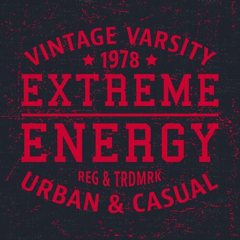 Extrem energi vintage frimärke vektor