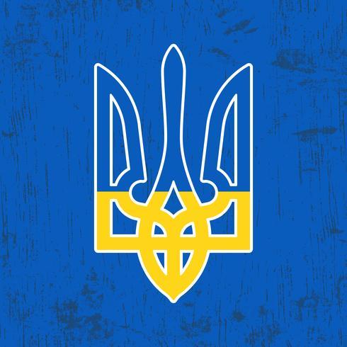 Ukraina trident stämpel vektor