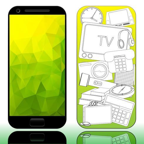 Mobiltelefon vektor