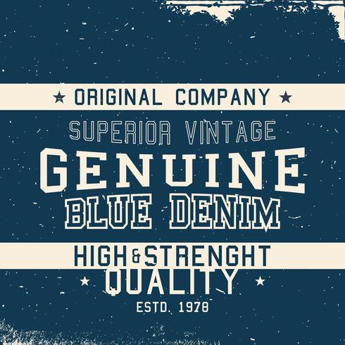 Vintage Deim Label vektor