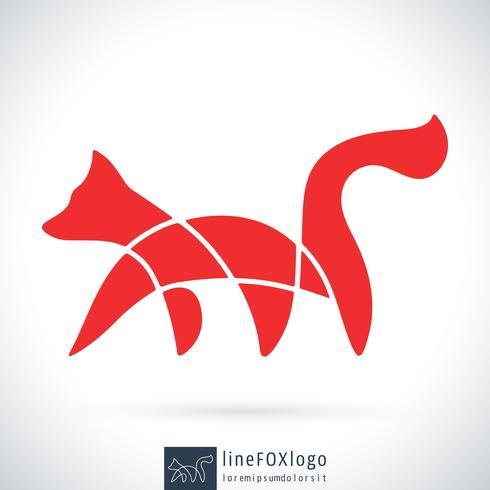 Line Fox-logotyp vektor