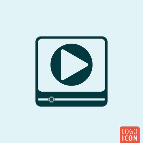 Video-Player-Symbol vektor