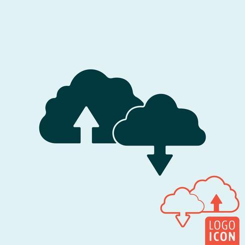 Cloud-Symbol isoliert vektor