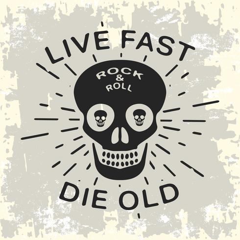 Rock and roll vintage frimärke vektor