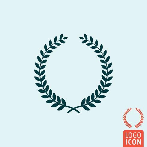 Laurel krans ikon isolerad vektor