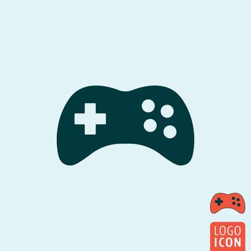 Gamepad-Symbol isoliert vektor