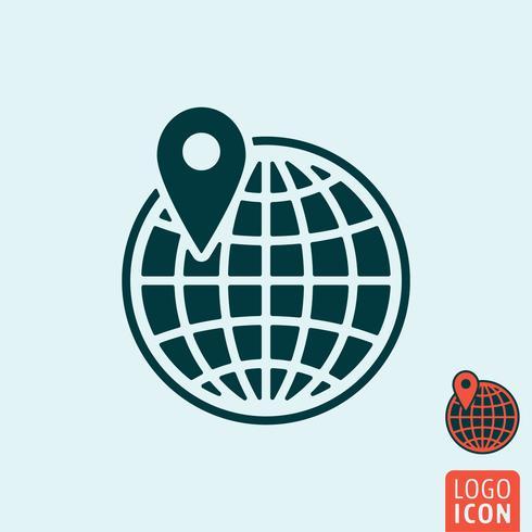 Globus-Symbol isoliert vektor