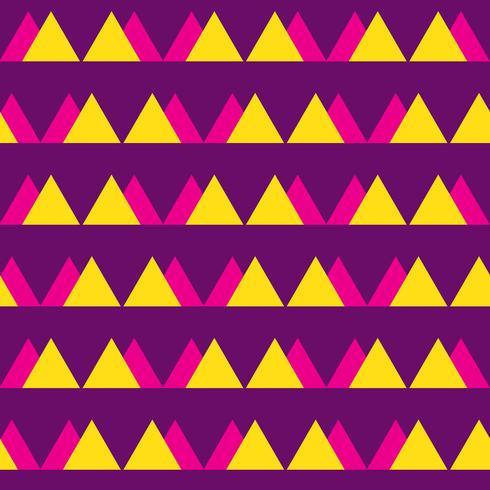 Nahtloses Weinlesezusammenfassungsmuster mit Dreiecken im Stil der achtziger Jahre. Modehintergrund in Memphis. vektor