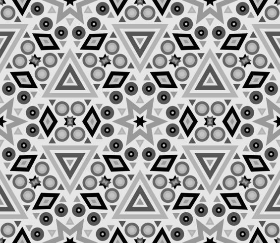 Nahtlose Beschaffenheit mit geometrischer Verzierung. vektor