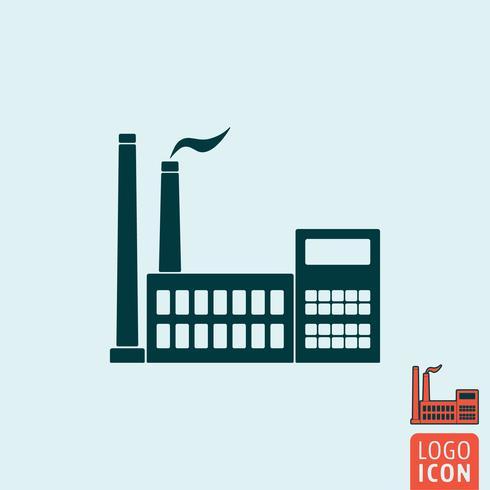 Fabrik-Symbol isoliert vektor