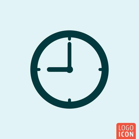 Tid klockikonet vektor