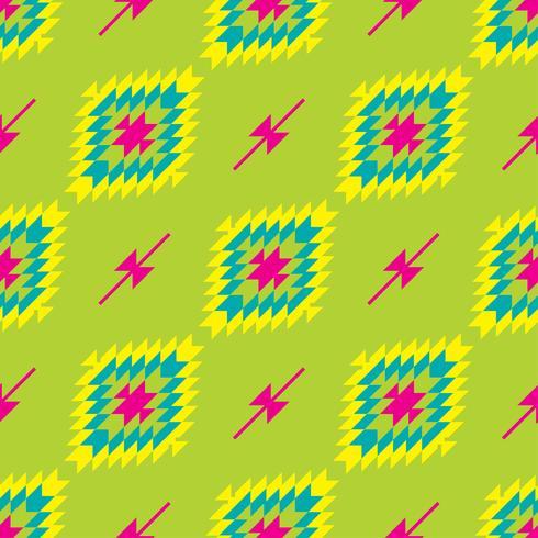 Mexikanisches folkloristisches Maßwerk-Textilnahtloses Muster vektor