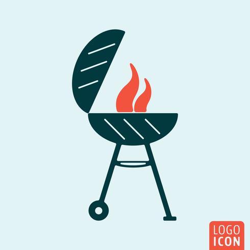 Grill BBQ-ikon vektor