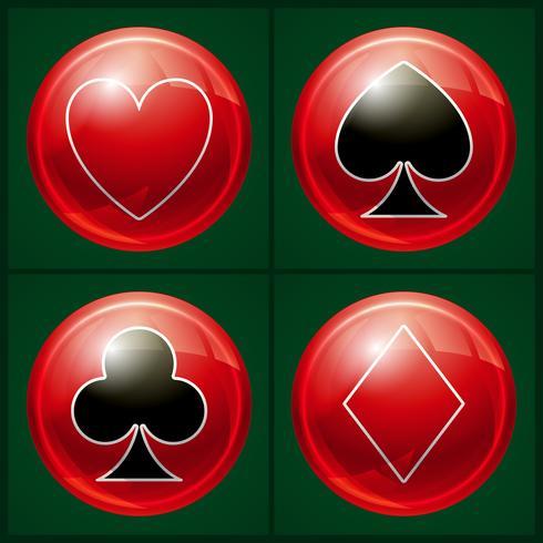 Poker casino knappen vektor