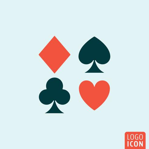 Spielkartenanzug vektor