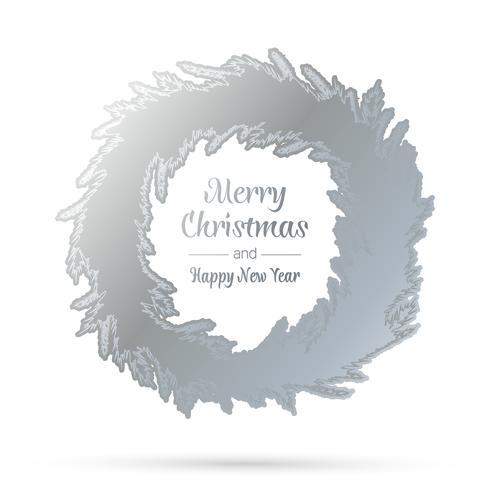 Silberner Weihnachtskranz vektor