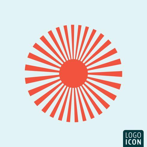 Sun-Symbolvorlage vektor