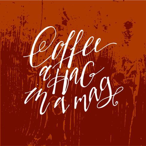 Aber erstmal Kaffeebeschriftung. vektor