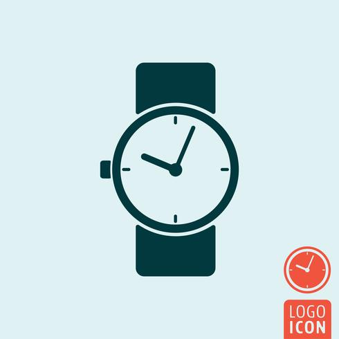 Klocka ikonen isolerad vektor
