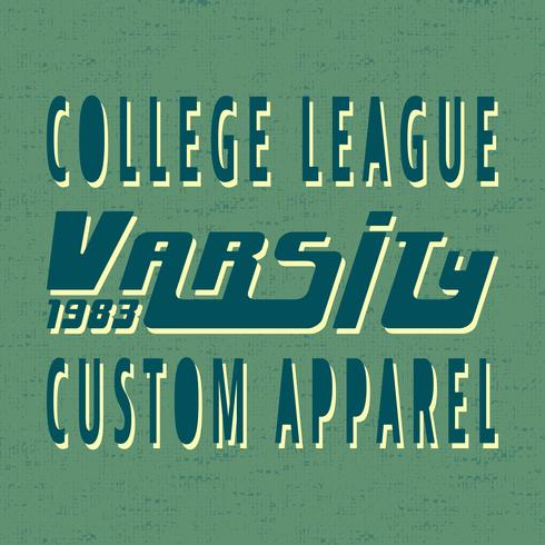 College Vintage Briefmarke vektor