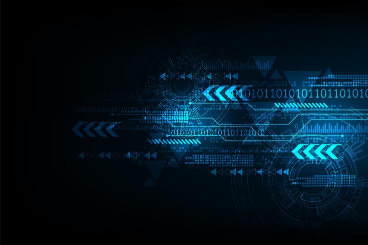 Die Bewegung von Informationen in der digitalen Welt. vektor