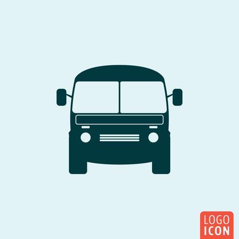 Minibus-Symbol vektor