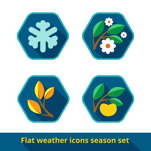 Vädersymboler, vektor