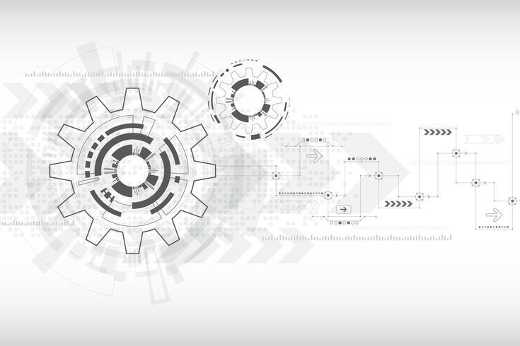 Vektorhintergrundtechnologie im Konzept von Gängen. vektor