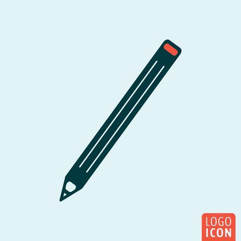 Penna ikonen isolerad vektor