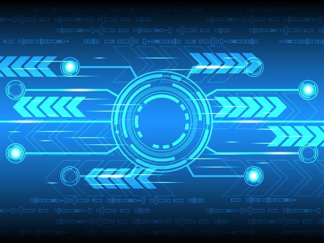 Schnelle digitale Arbeit über einen blauen Hintergrund. vektor