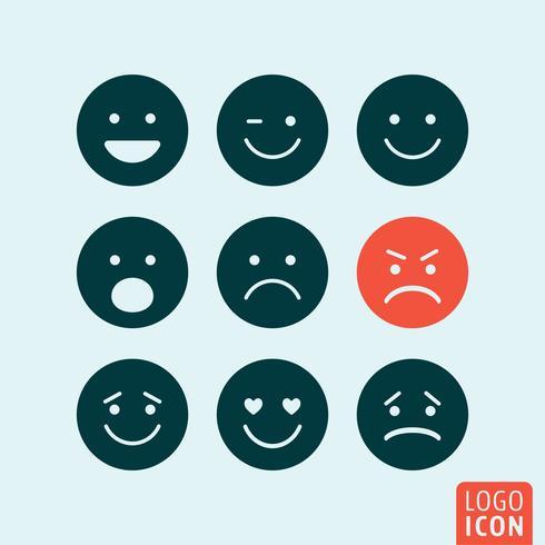 Emoticons Symbol isoliert vektor