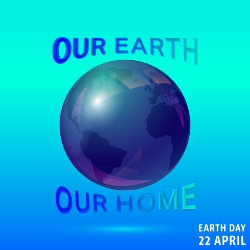 Earth dag affisch vektor