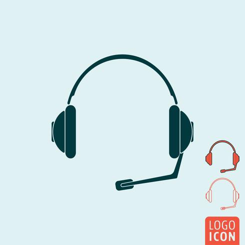 Headsetikonen isolerad vektor