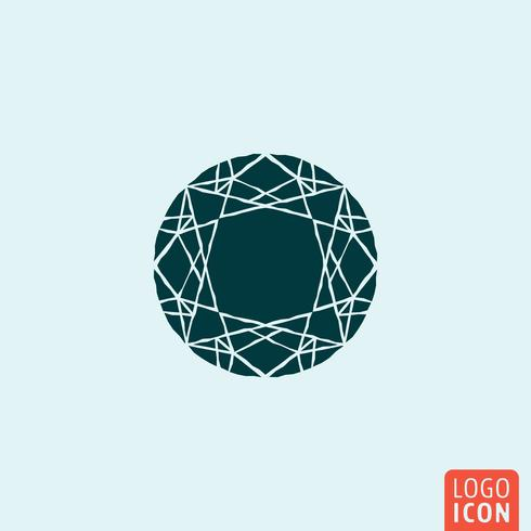 Diamant smycken ikon vektor