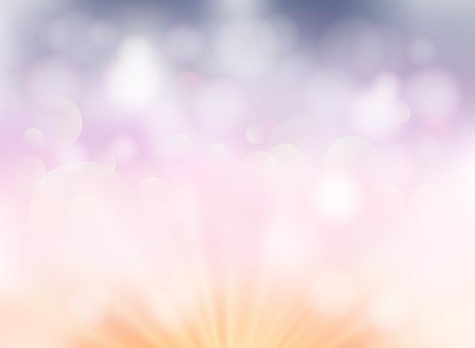Abstrakter weiches Licht bokeh Pastellfarbhintergrund für Darstellung. vektor