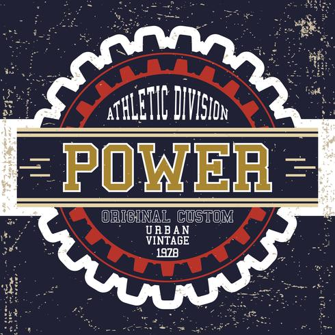 Vintage power affisch vektor