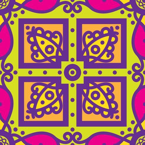 Talavera oblana mexikanisches nahtloses Muster vektor