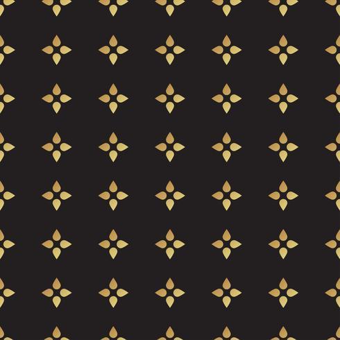 Universalvektorschwarzes und Goldnahtloses Muster, deckend mit Ziegeln. vektor